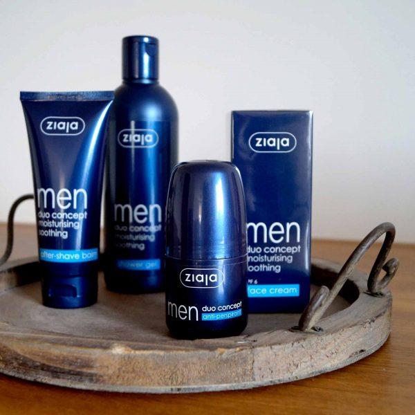 Das Männer-Pflegeset mit Duschgel, Gesichtscreme, Aftershave und Antiperspirant von Ziaja