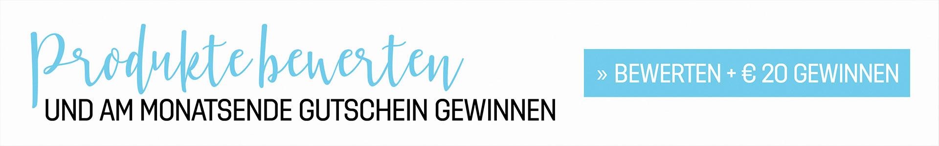 Produkte bewerten und am Ende des Monats € 20-cosa-Gutschein gewinnen