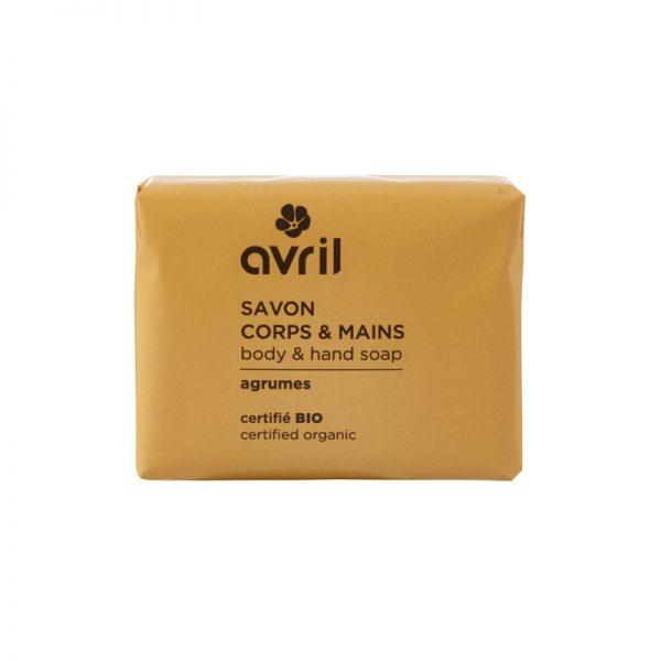 Die Hand- und Körperseife mit Zitrus-Duft von Avril