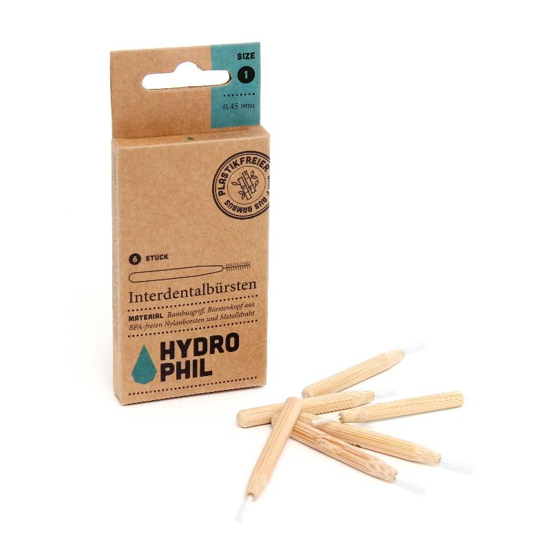Interdentalbürste mit 0,45 mm Durchmesser und Bambusgriff von Hydrophil