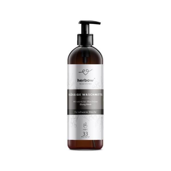 Flüssigwaschmittel für schwarze Wäsche mit Aloe Vera-Duft von herbow