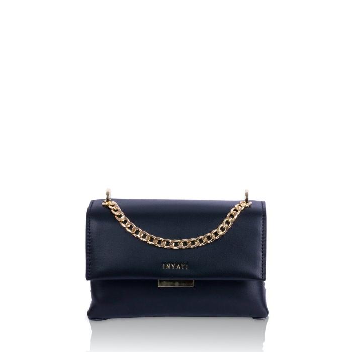 Mini-Handtasche in Schwarz aus veganem Leder von IINYATI