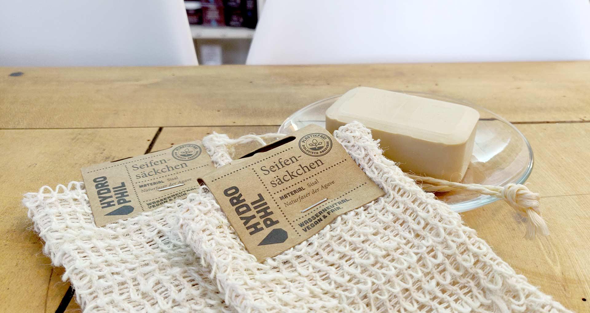 Natürliches Seifensäckchen aus Sisal von Hydrophil bei cosa Kosmetik ohne Tierversuche online kaufen