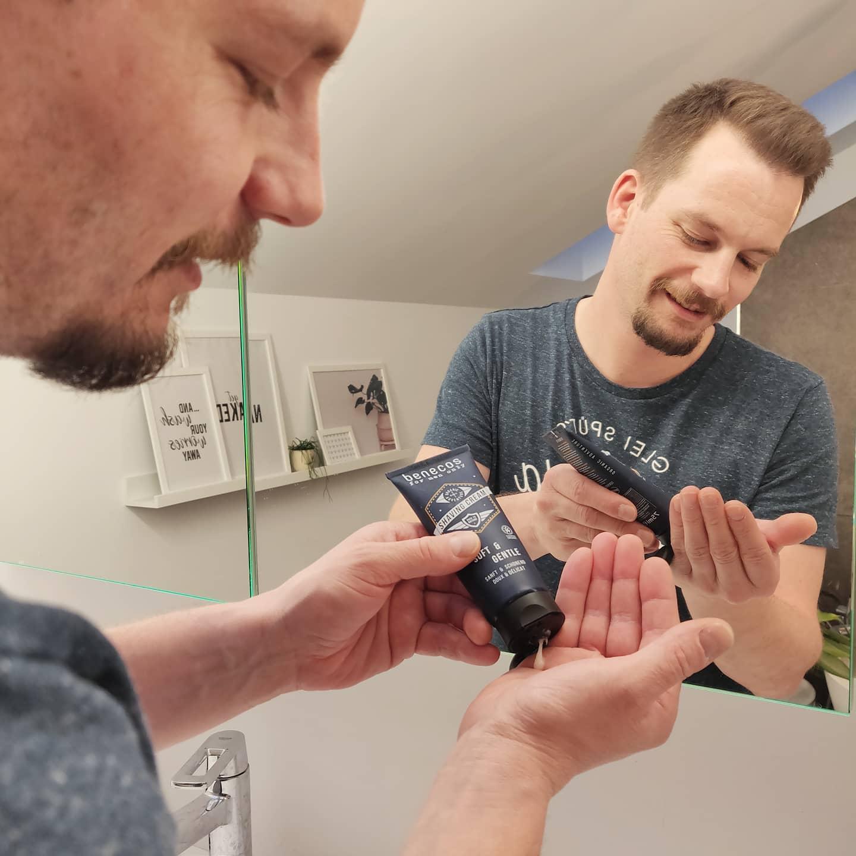 Vegane Rasiercreme von Benecos bei cosa Kosmetik, Naturkosmetik ohne Tierversuche