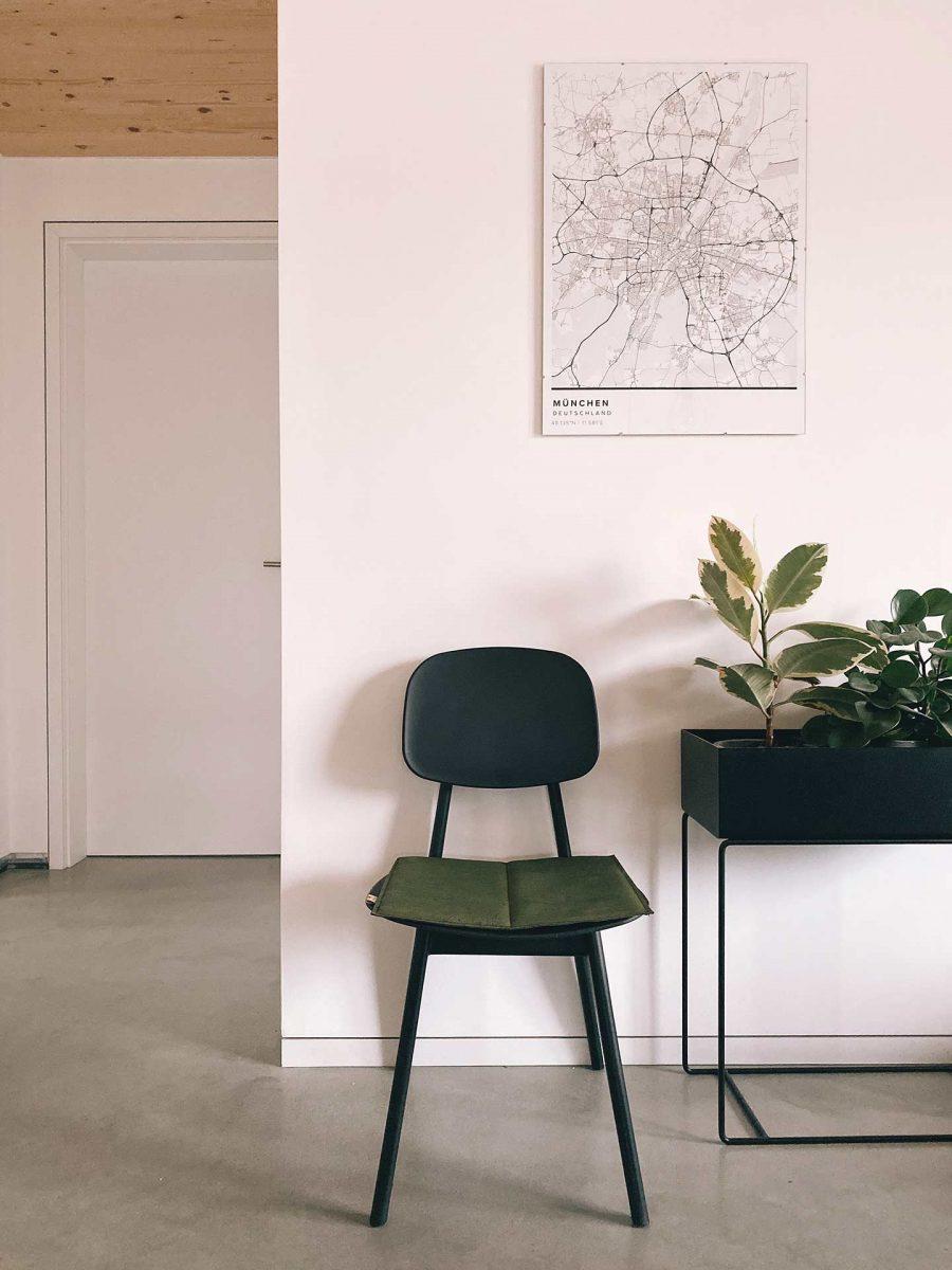 Antiallergene Sitzauflage aus Kork in Olive von CLARISSAKORK