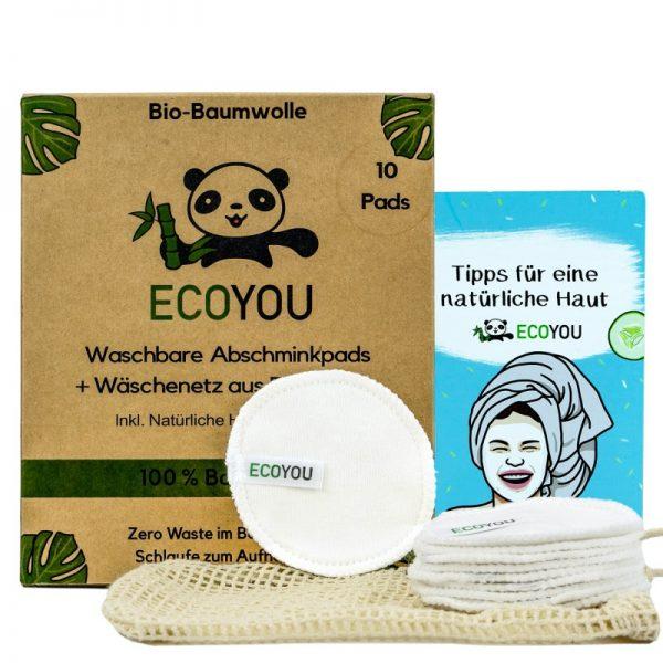 Die Abschminkpads in Weiß von EcoYou als perfekter Ersatz für Wattepads.