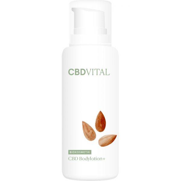 Die CBD Bodylotion plus für trockene Haut oder zu Neurodermitis neigender Haut von CBD Vital im cosa Kosmetik Onlineshop