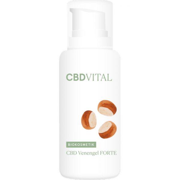 Das Venengel von CBD Vital mit CBD und einem Inhaltstoffkomplex belebt schwere Beine