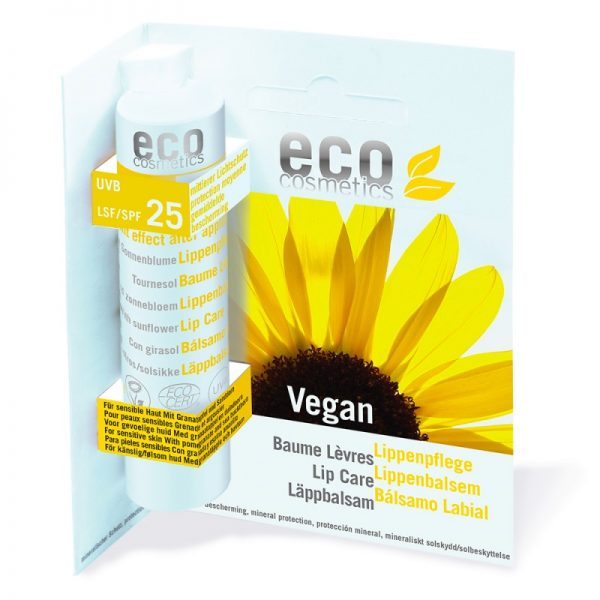 Veganer Lippenpflegestift mit Lichtschutzfaktor 25 von eco cosmetics im cosa Kosmetik Onlineshop