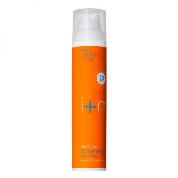 Die vegane Sonnenmilch mit Lichtschutzfaktor 20 von i+m im cosa Kosmetik Onlineshop