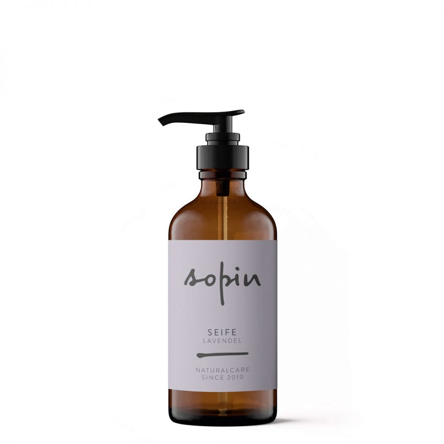 Die Gesichts- und Handseife mit Lavendelduft von Sopin im cosa Kosmetik Onlineshop