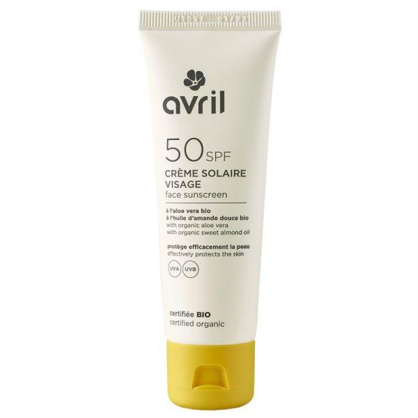 Die Sonnencreme mit Lichtschutzfaktor 50 fürs Gesicht von Avril im cosa Kosmetik Onlineshop