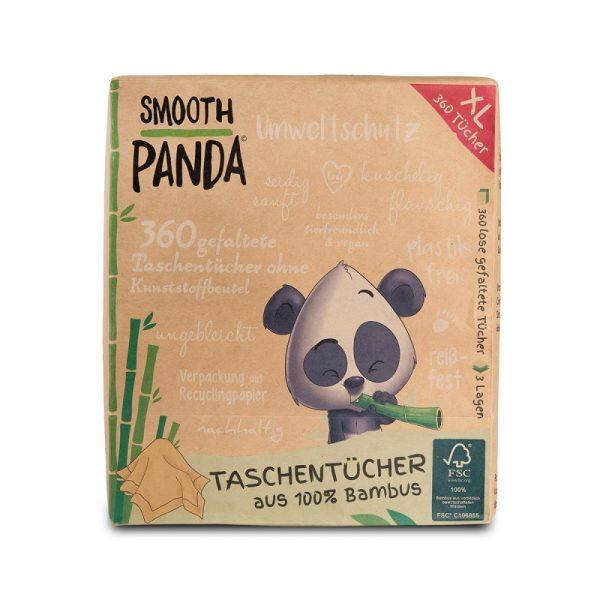 Die 3-lagigen Taschentücher aus Bambus von Smooth Panda im cosa Kosmetik Onlineshop