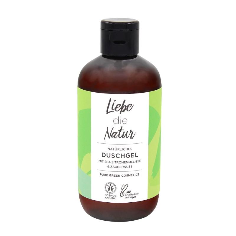Das Duschgel mit dem Duft von Zitronenmelisse und Zaubernuss von Liebe die Natur im cosa Kosmetik Onlineshop