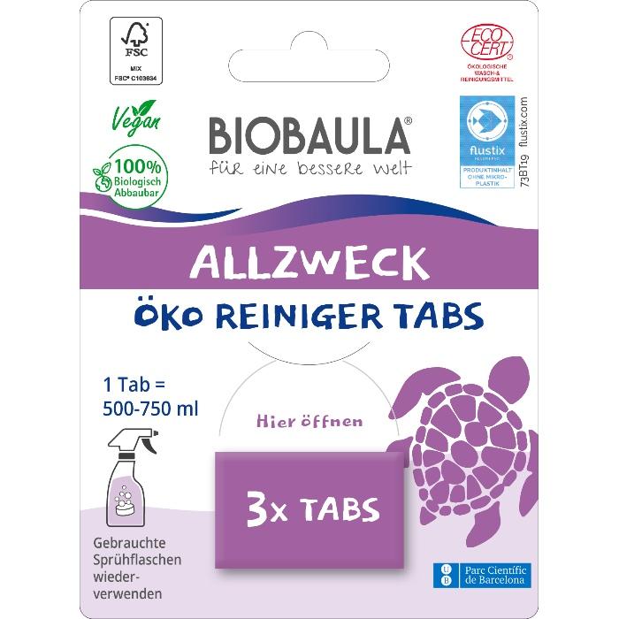 Der biologisch abbaubare Allzweckreiniger von BioBaula in der plastikfreien Verpackung im cosa Kosmetik Onlineshop