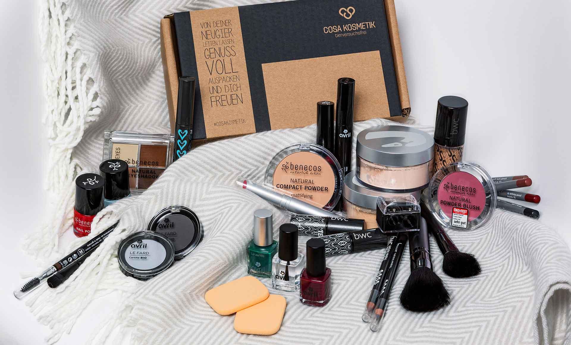 Dekorative Kosmetik und Make-Up ohne Tierversuche bei cosa Kosmetik online kaufen