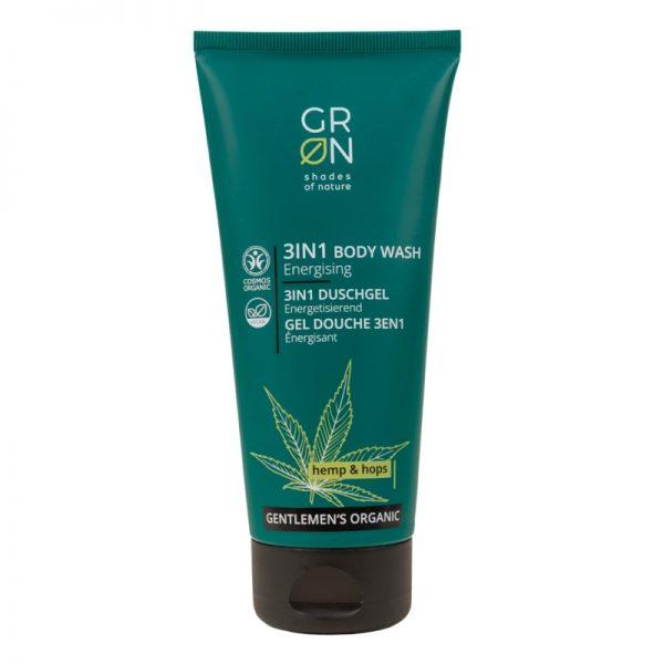 3 in 1 Bodywash für Gesicht, Körper und Haare mit Hanf und Hopfen von GRN im cosa Kosmetik Onlineshop