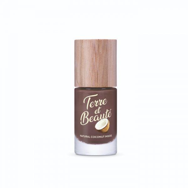 Veganer und schnell trocknender Nagellack mit Kokosduft in Chocolat von Terre et Beauté im cosa Onlineshop