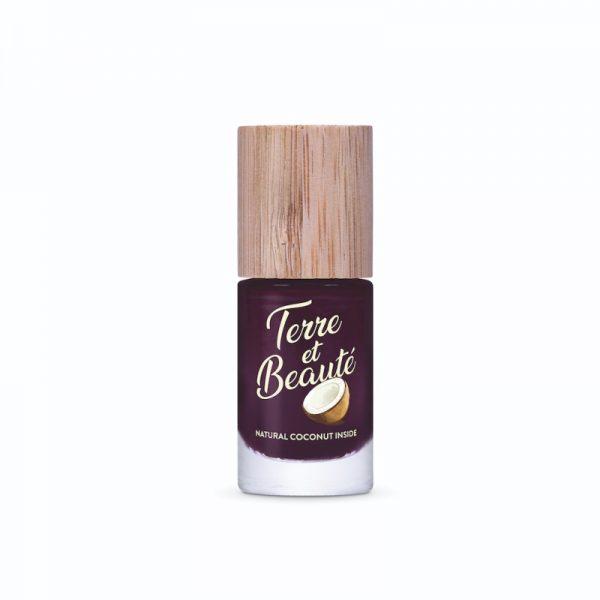 Veganer und schnell trocknender Nagellack mit Kokosduft in Rouge Bordeaux von Terre et Beauté im cosa Onlineshop