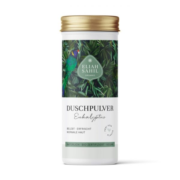 Das erfrischende Duschpulver mit Eukalyptus von Eliah Sahil im cosa Kosmetik Onlineshop