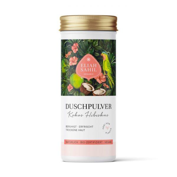 Das Duschpulver mit Kokos & Hibiskus eignet sich besonders für trockene Haut