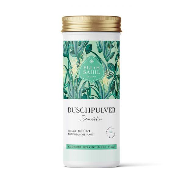 Das Duschpulver Sensitiv ohne Tenside eignet sich besonders für empfindliche, zu Allergien-neigende Haut