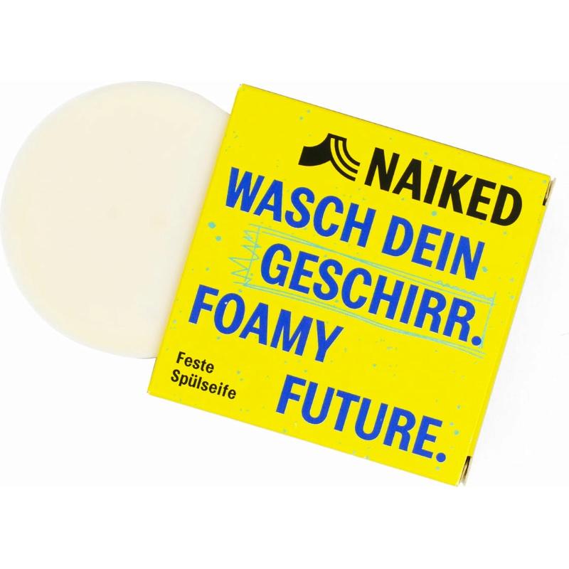 Plastikfreie Geschirrspülseife mit Zitrusduft von Naiked im cosa Kosmetik Onlineshop