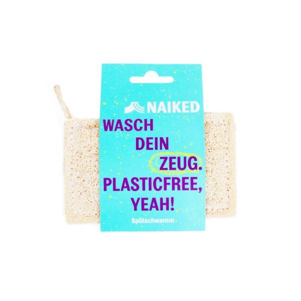 Kompostierbarer Luffa-Spülschwamm von Naiked im cosa Kosmetik Onlineshop