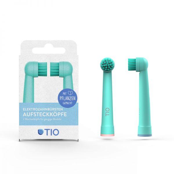 Doppelpack Wechselköpfe für elektrische Zahnbürsten von TIO im cosa Kosmetik Onlineshop
