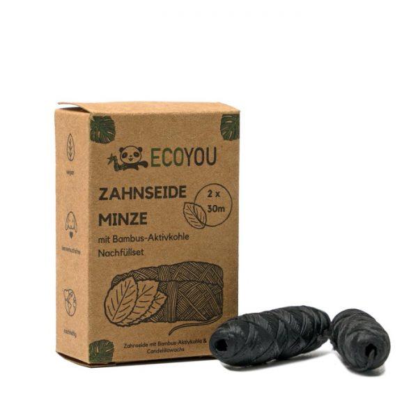 Nachfüllpack der Zahnseide mit Aktivkohle von ECOYOU