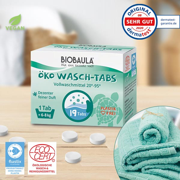 Öko-Waschmittel-Tabs von Biobaula im cosa Kosmetik Onlineshop