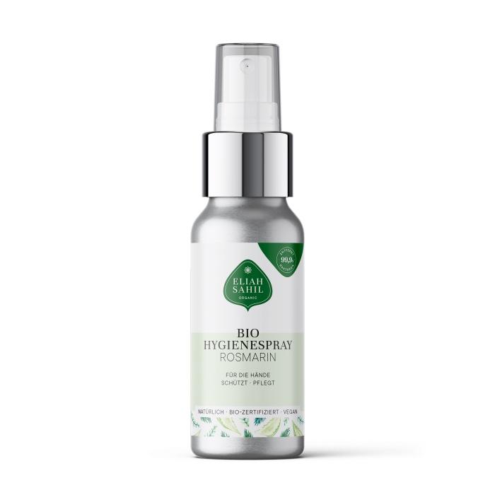 Bio-zertifizierter und veganer Hand-Hygienespray mit Rosmarin und Aloe Vera-Extrakt in der perfekten Mitnahmegröße von Eliah Sahil