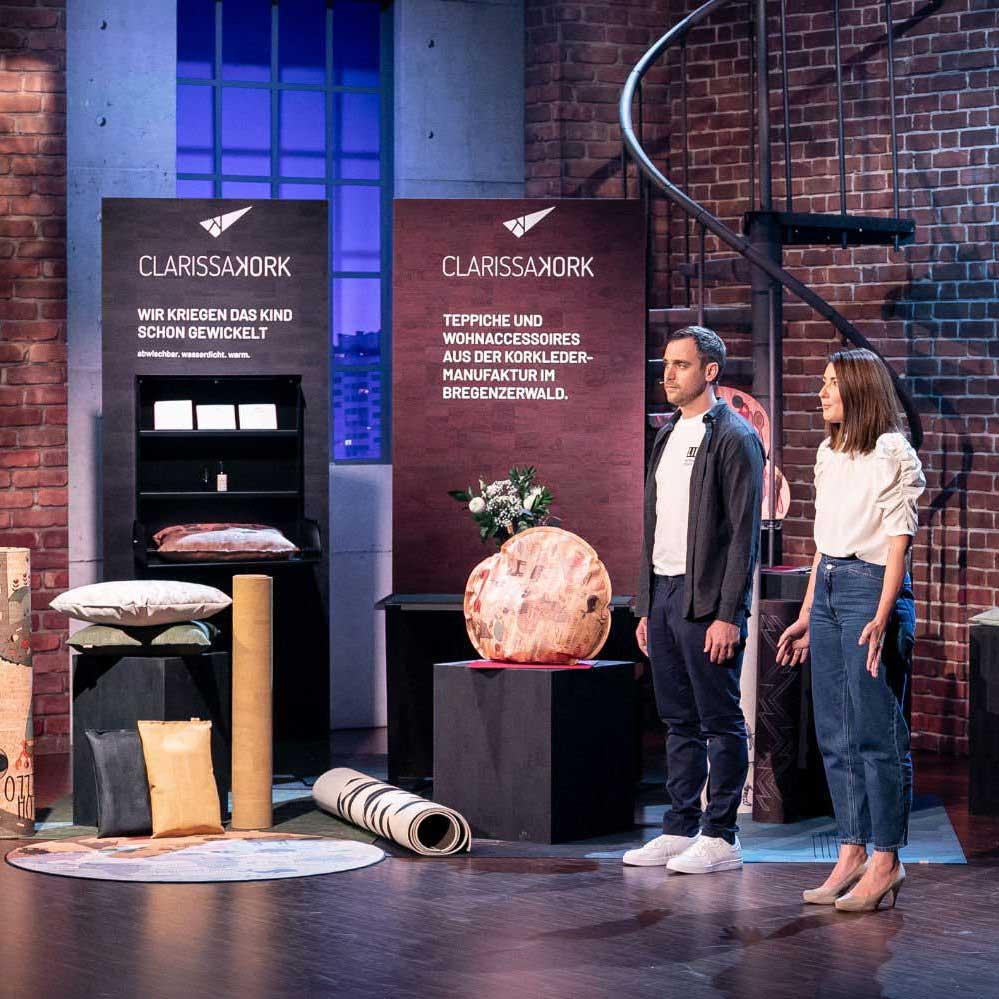 Clarissakork mit ihren veganen Wohn-Accessoires aus Kork bei 2 Minuten 2 Millionen – wir drücken die Daumen und freuen uns riesig mit euch!