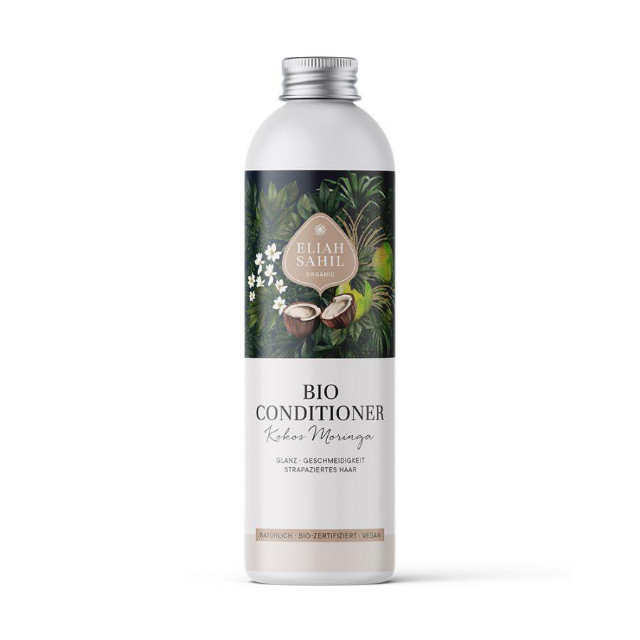 Bio-Conditioner mit Kokos und Moringa von Eliah Sahil aus Vorarlberg bei cosa Kosmetik ohne Tierversuche