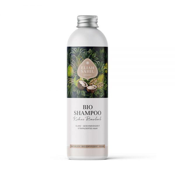 Bio-Shampoo mit Kokos und Baobab von Eliah Sahil aus Vorarlberg bei cosa Kosmetik ohne Tierversuche