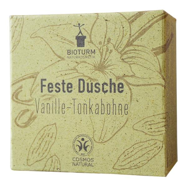 Festes Duschstück mit dem Duft von Vanille und Tonkabohne von Bioturm im cosa Kosmetik Onlineshop
