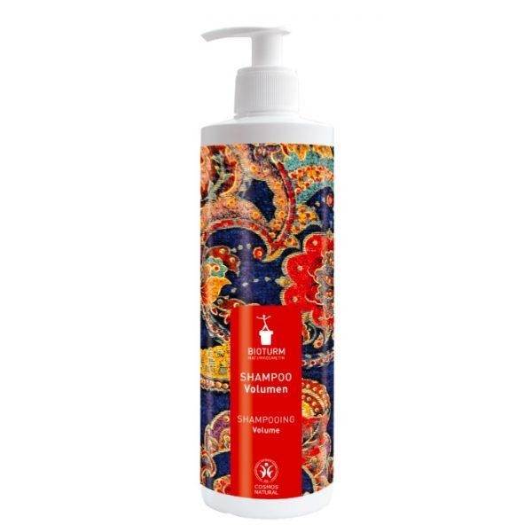 Das Volumen-Shampoo für feines und kraftloses Haar in der 500 ml Großpackung von Bioturm im cosa Kosmetik Onlineshop