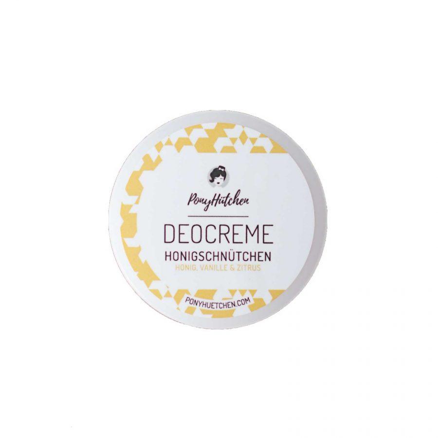 Die vegane Deocreme Rock a Hula ohne Aluminium mit dem Duft von Vanille und Honig mit Zitrusnoten von Ponyhütchen im cosa Kosmetik Onlineshop